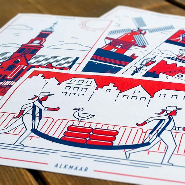 Ansichtkaarten uit alkmaar door dimgray eigen project