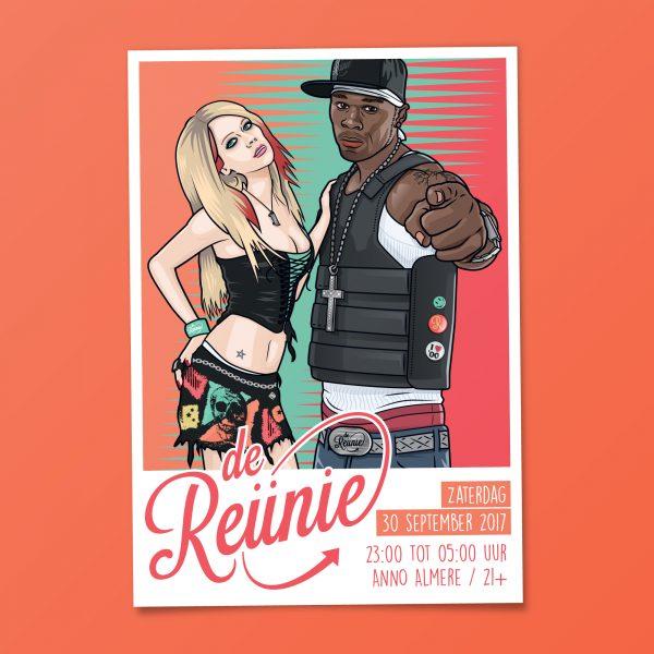 Poster de Reunie Almere - 50 ct. & Avril lavigne