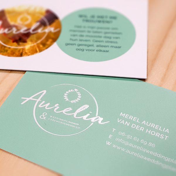 nieuws visitekaartjes Aurelia Weddingplanner dimgray