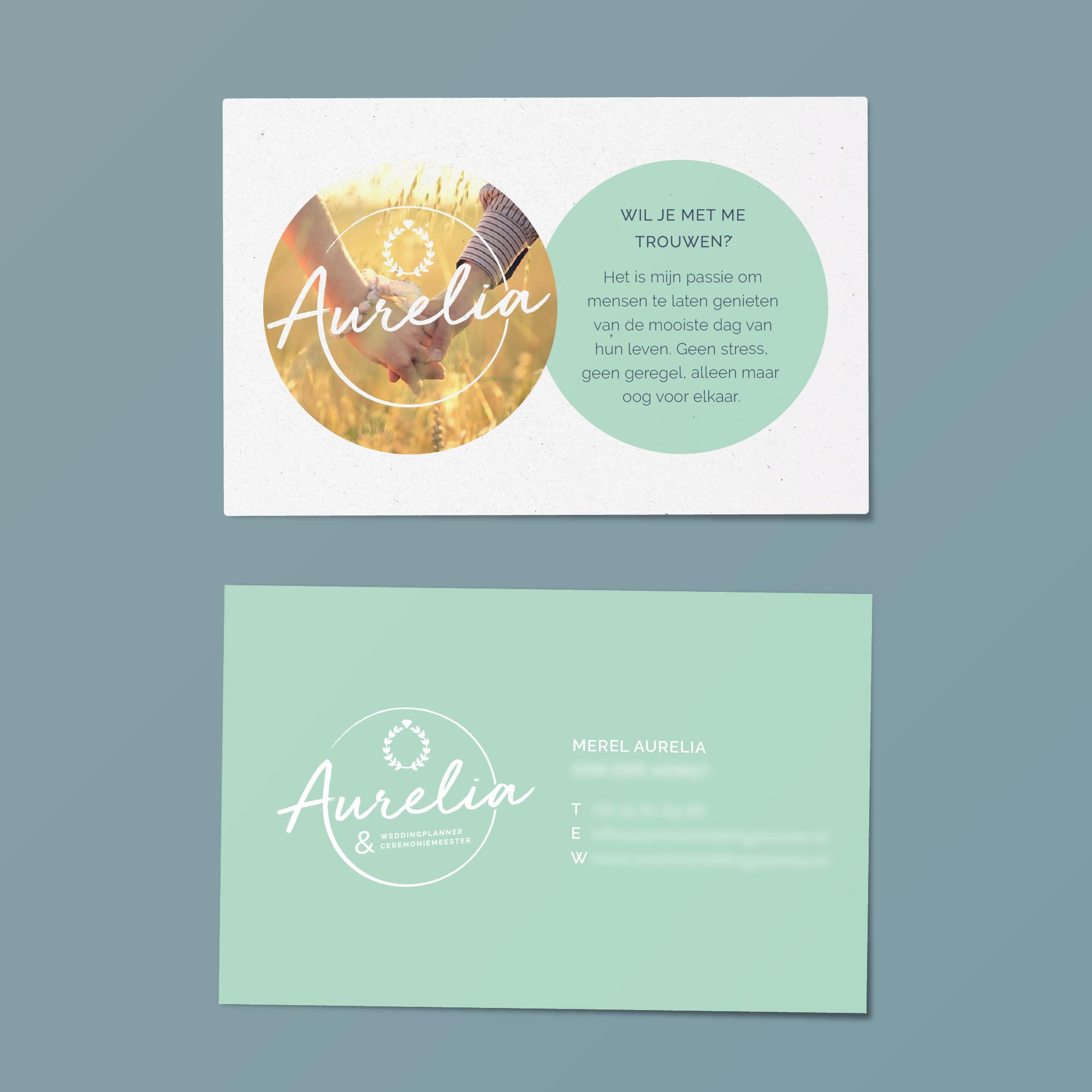 portfolio-dimgray-huisstijl-aureliaceremoniemeester-visitekaartjes