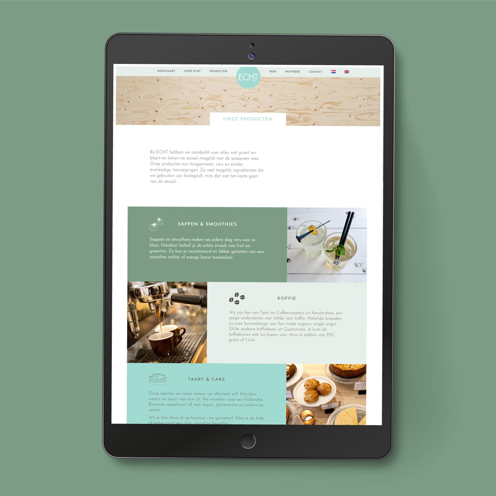 Website ECHT Food