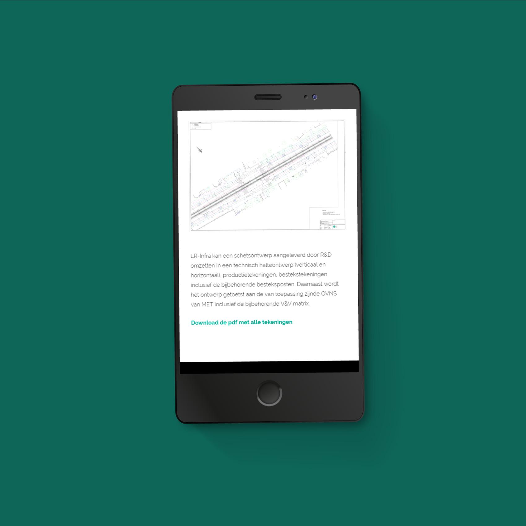 Webdesign LR-Infra - mobiel