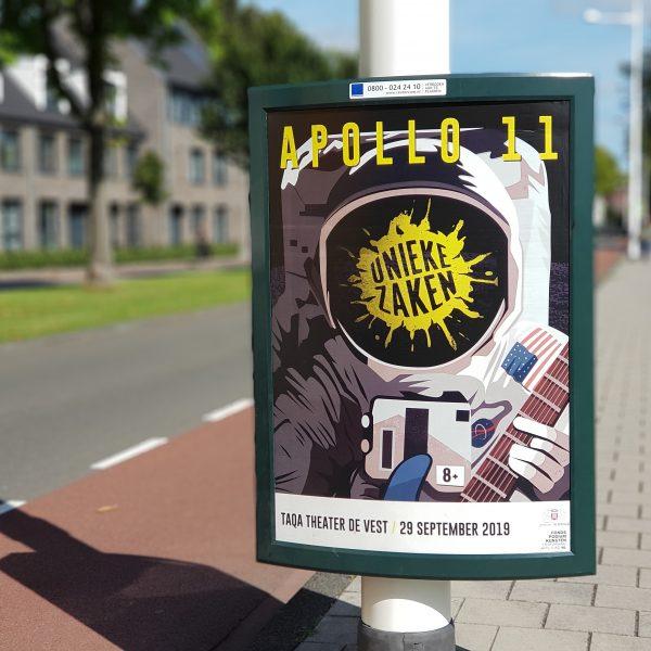 Poster unieke zaken apollo 11 straat